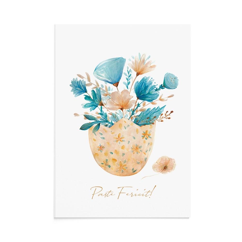 Felicitare Paste Floral Egg