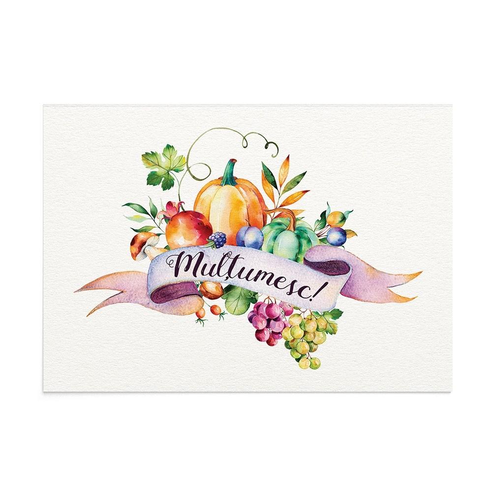 Felicitare Multumire Harvest Season Ro