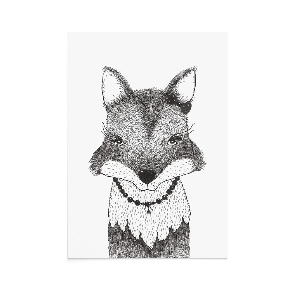 Felicitare Copii Lady Fox