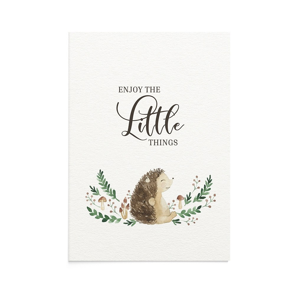 Felicitare Bebe Little Hedgehog