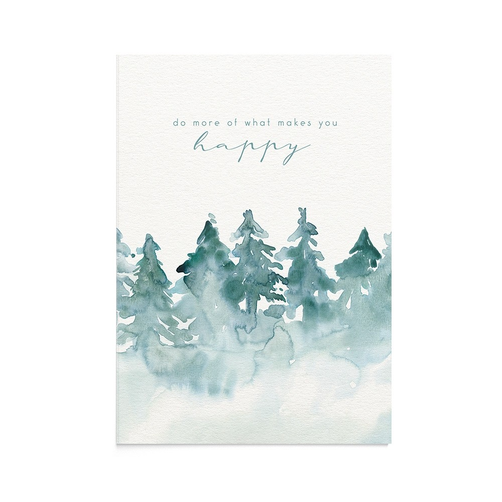 Felicitare Munte Misty Forest Quote