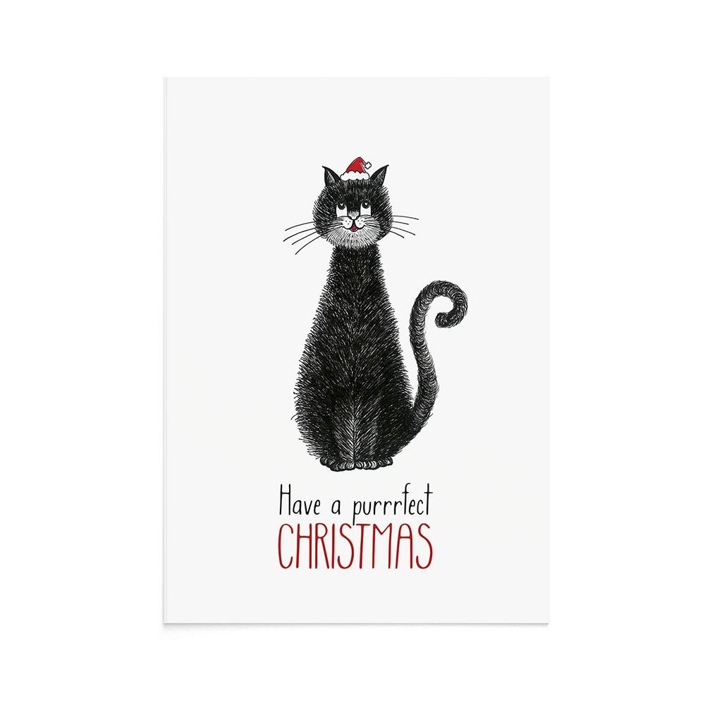 Felicitare Craciun Purrrfect Christmas