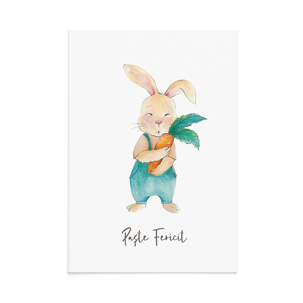 Felicitare Paste Easter Rabbit Boy
