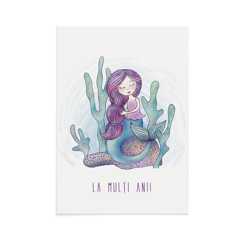 Felicitare Copii Serene Mermaid