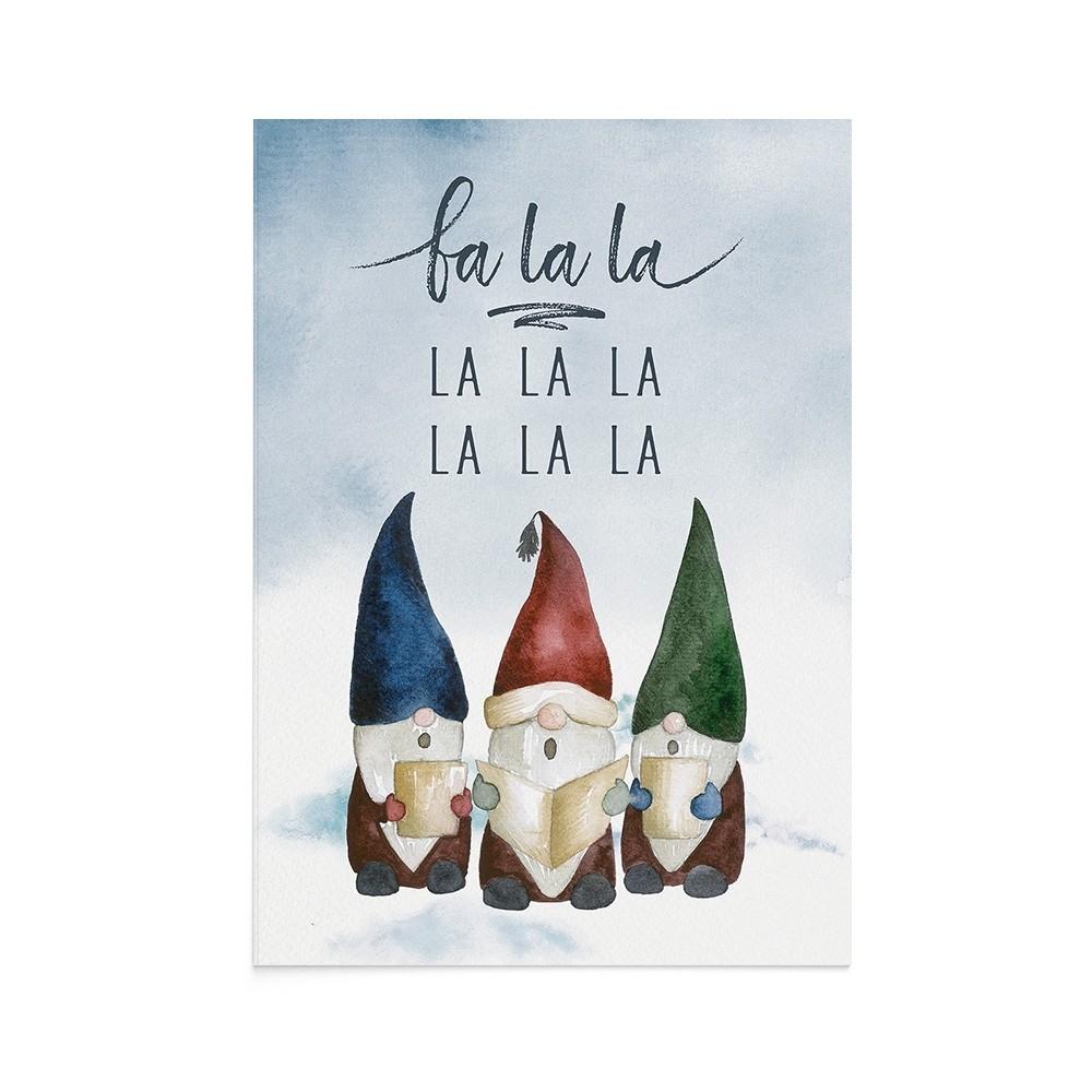 Felicitare Craciun Singing Gnomes