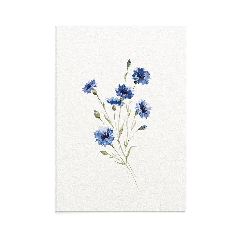 Felicitare Flori Wild Blue