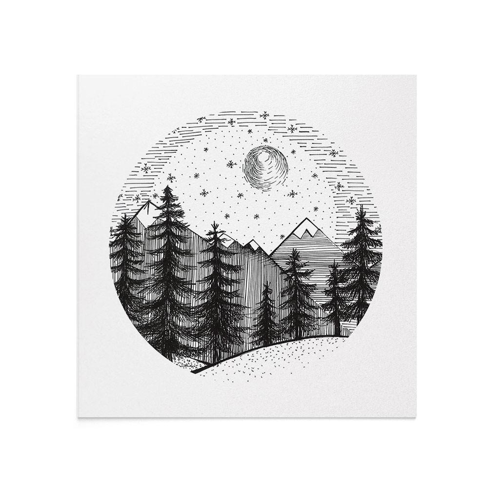 Felicitare Craciun Winter Forest