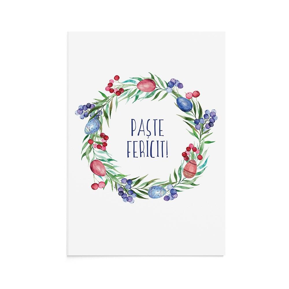 Felicitare Easter Wreath