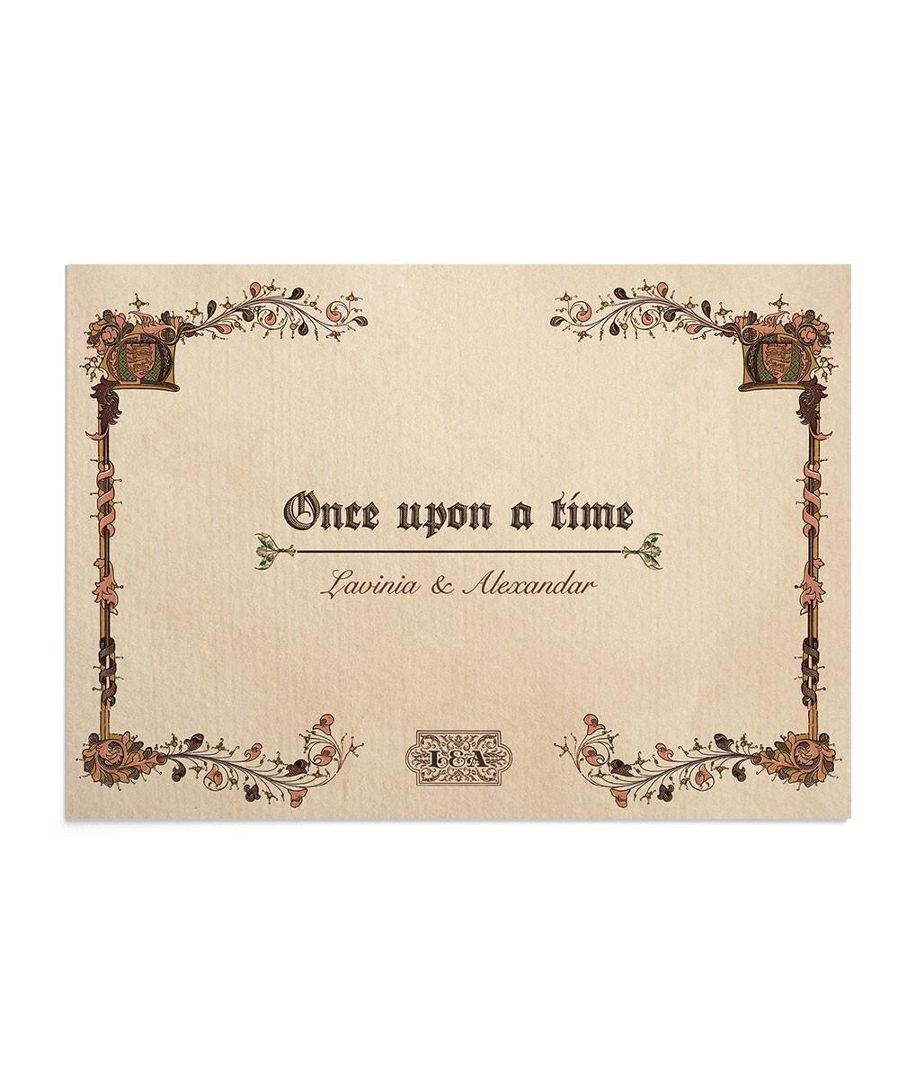 Invitatie de nunta Once Upon a Time