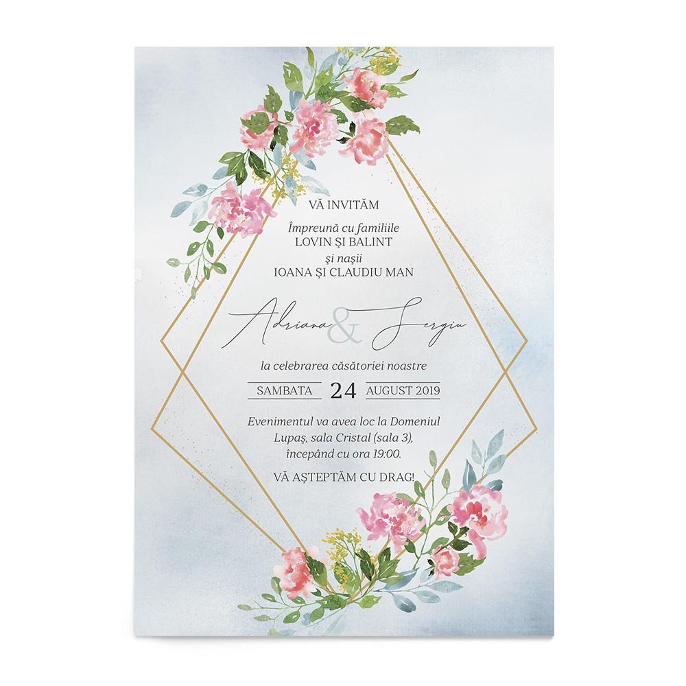 Invitatie Delicate Blush