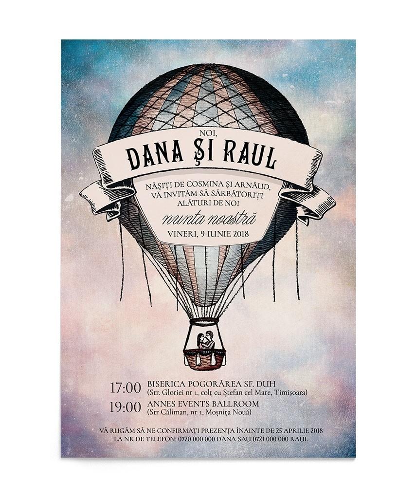 Invitatie digitala Balloon Story