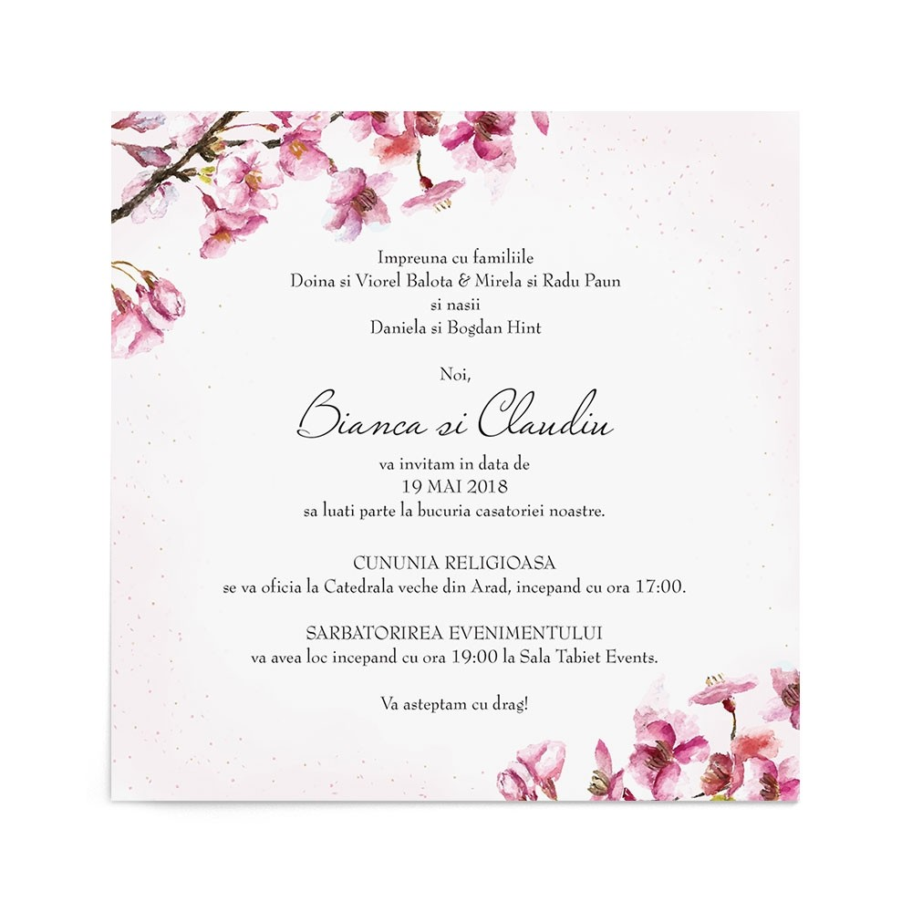 Invitatie digitala Cherry Love