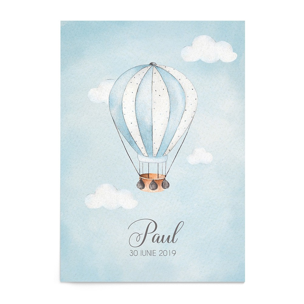 Invitatie digitala Hot Air Balloon