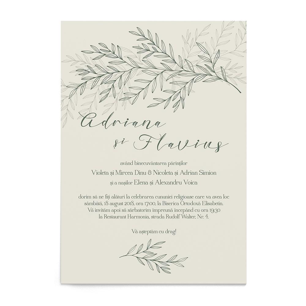 Invitatie digitala Lavish Foliage