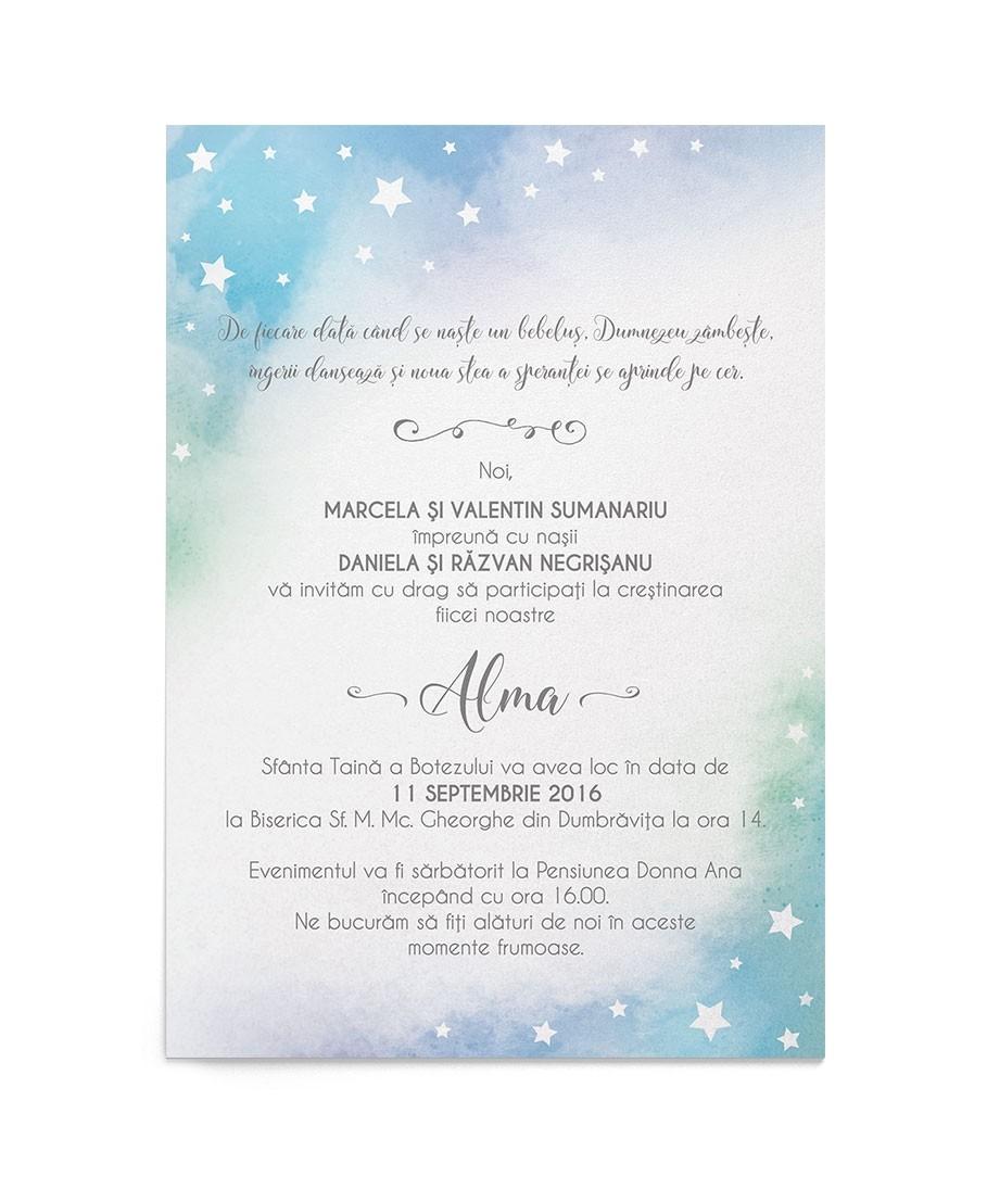 Invitatie digitala Little Star
