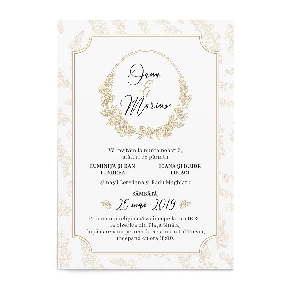 Invitatie digitala Precious Crest