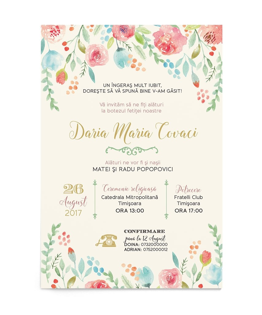 Invitatie digitala Sprinkle Flowers