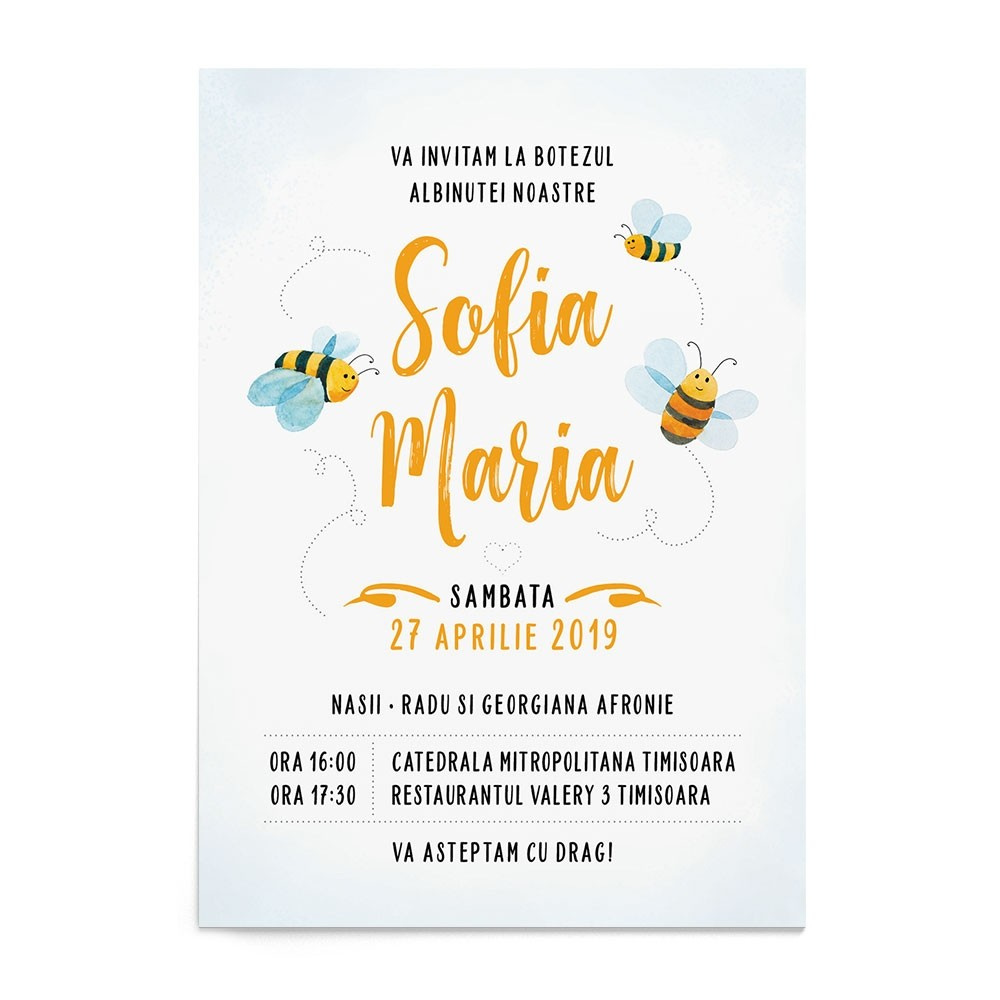 Invitatie digitala Sweet Bee