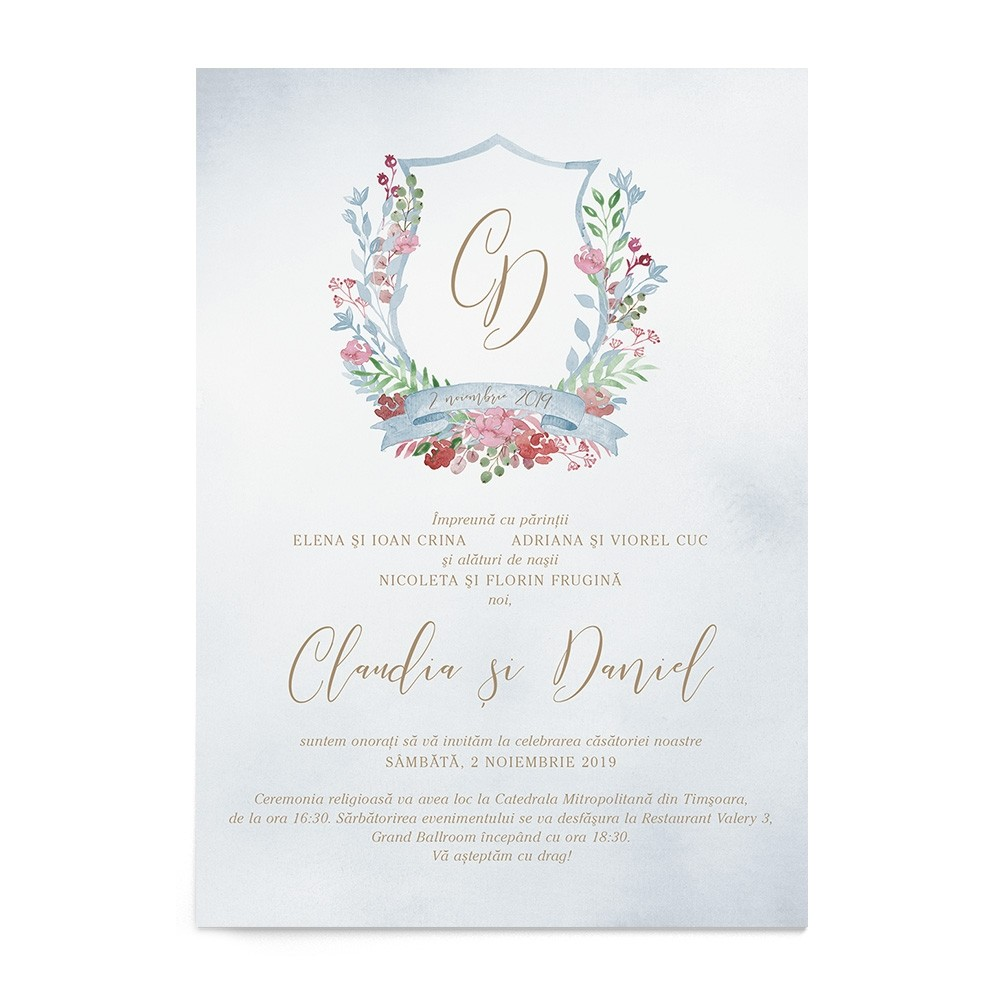 Invitatie digitala Sweet Monogram