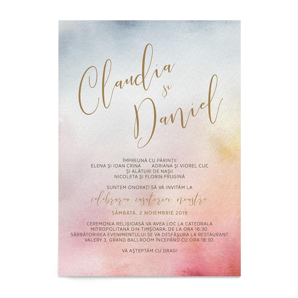Invitatie digitala Watercolor Mist