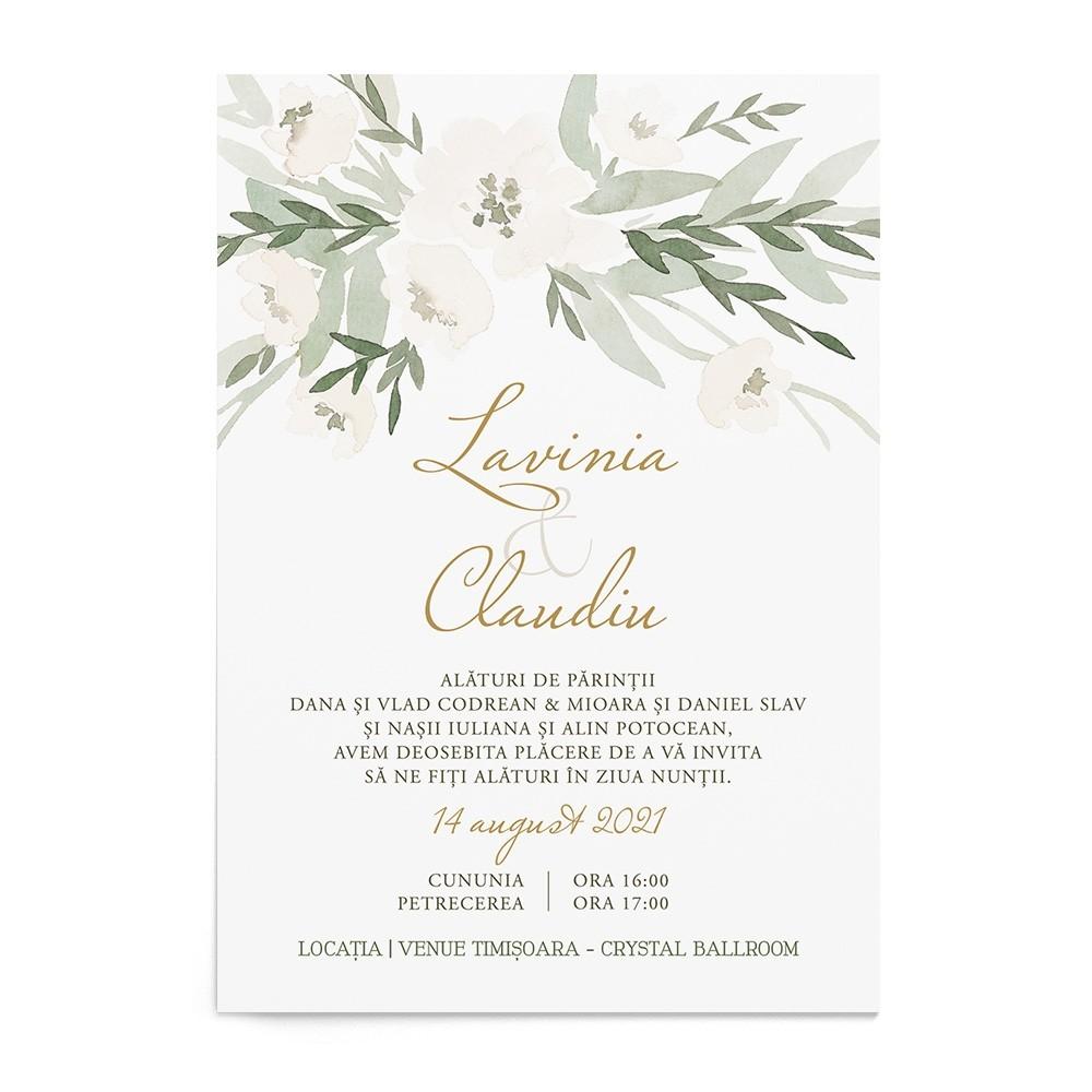 Invitatie de nunta Gracious Greens