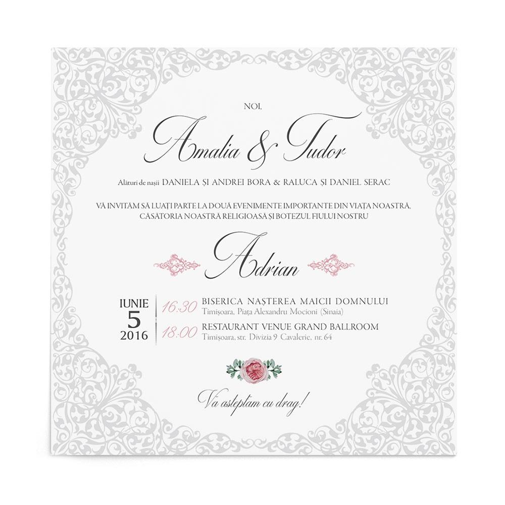 Invitatie Regal Lace
