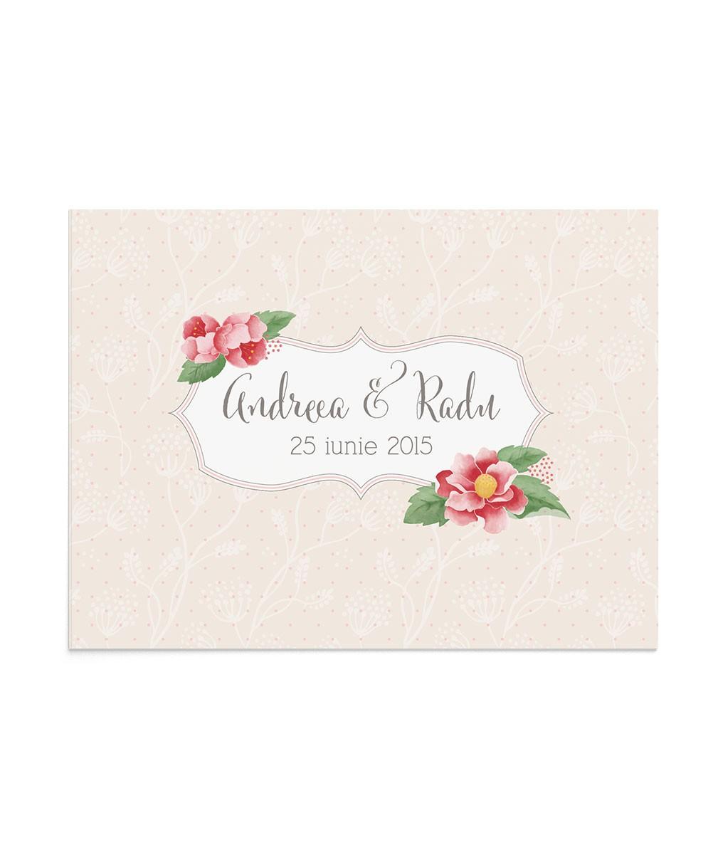 Invitatie de nunta Flowered Corners