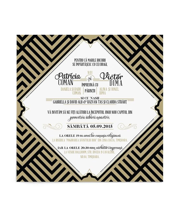 Invitatie de nunta Lush Diamond