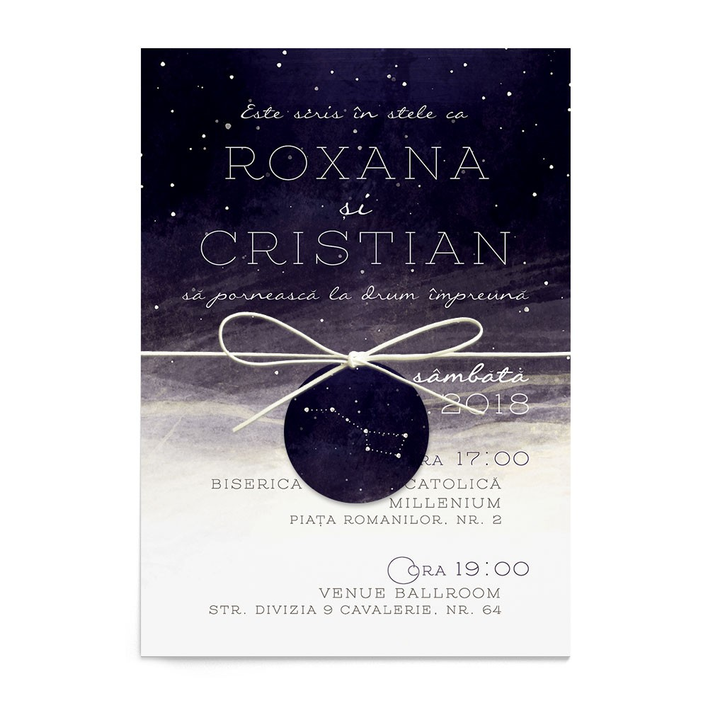 Invitatie nunta Starry Night