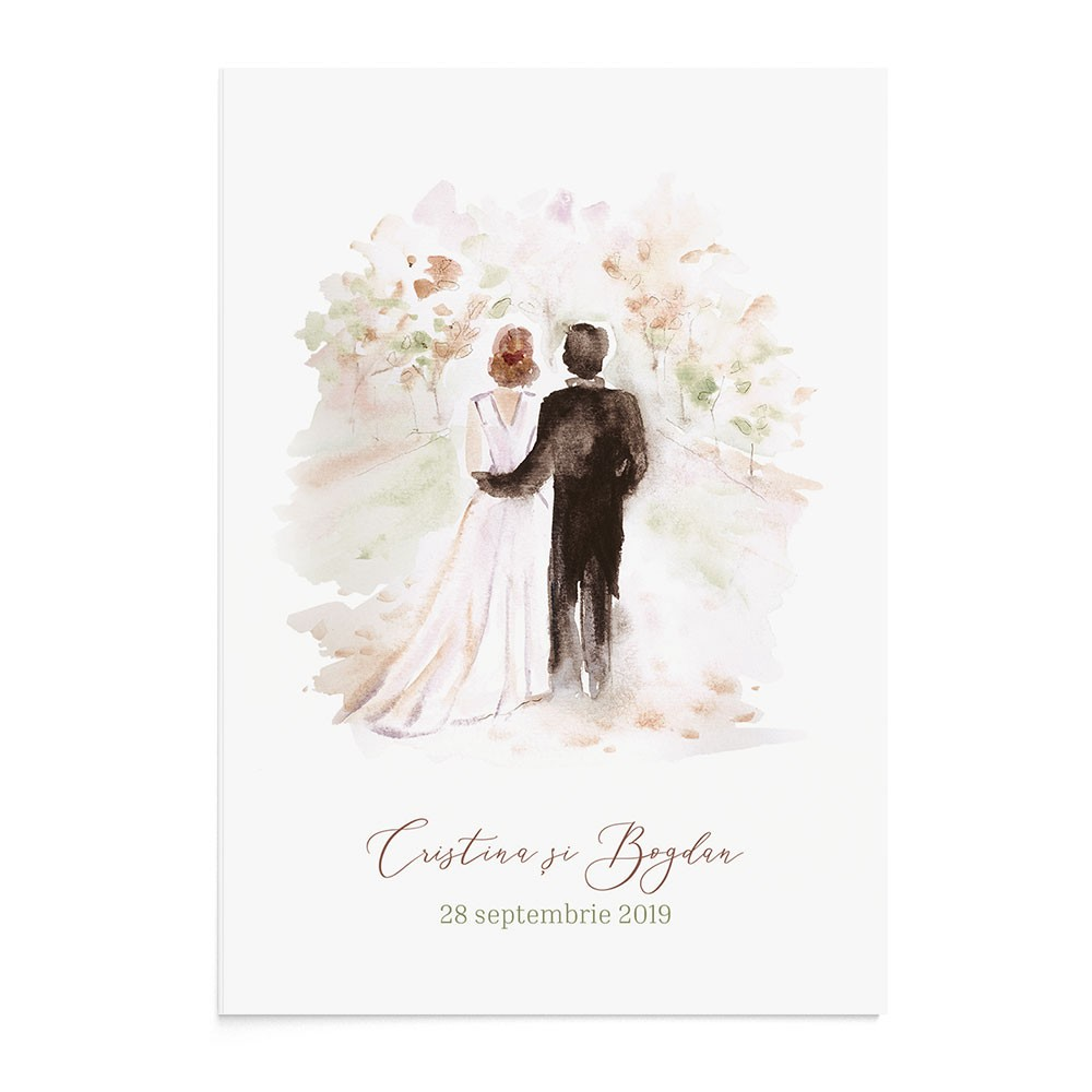 Invitatie de nunta Wedding Road