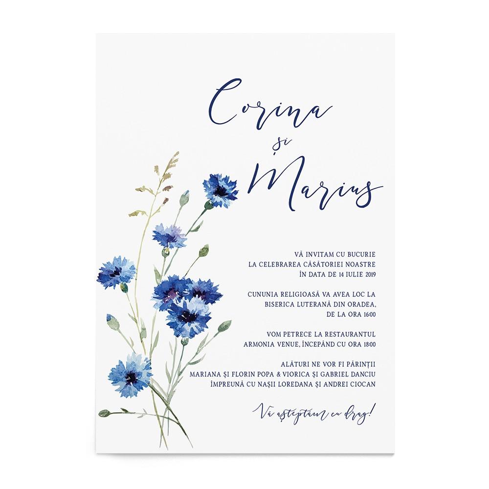 Invitatie Wild Blue