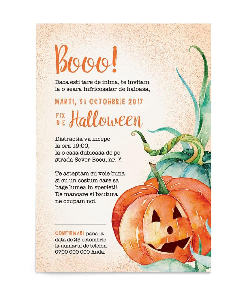 Invitatie de petrecere Creepy Pumpkin
