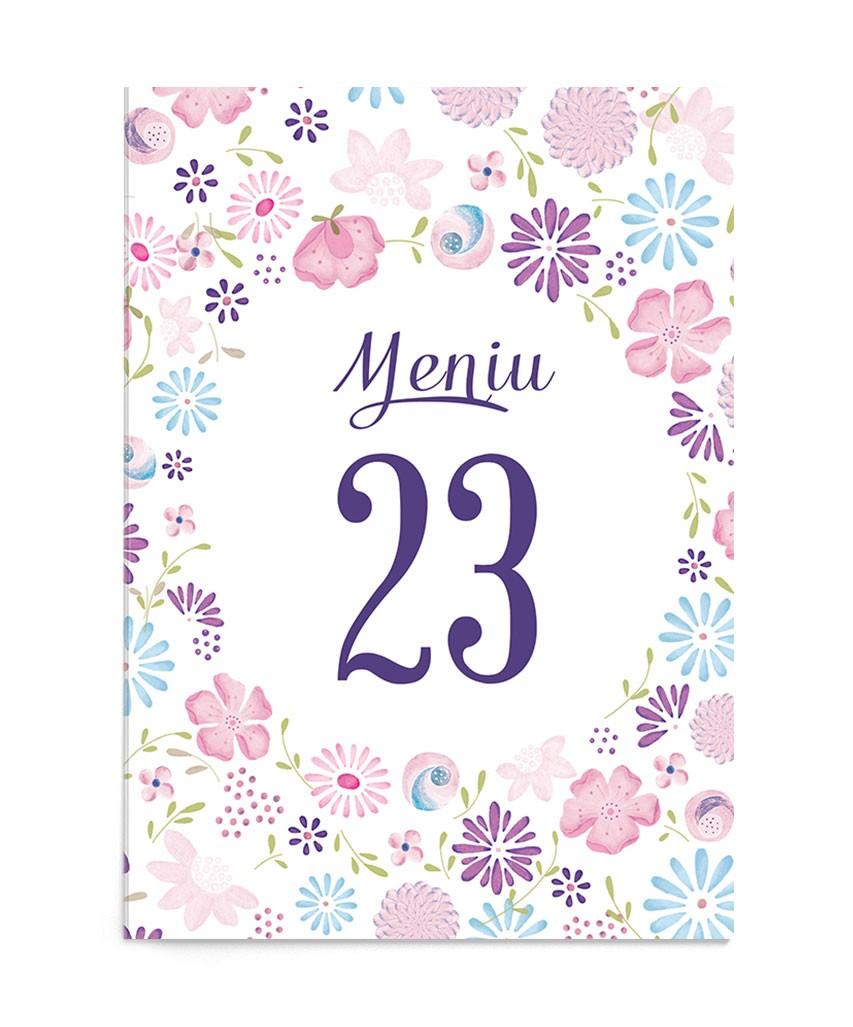 Meniu de nunta Cheerful Design