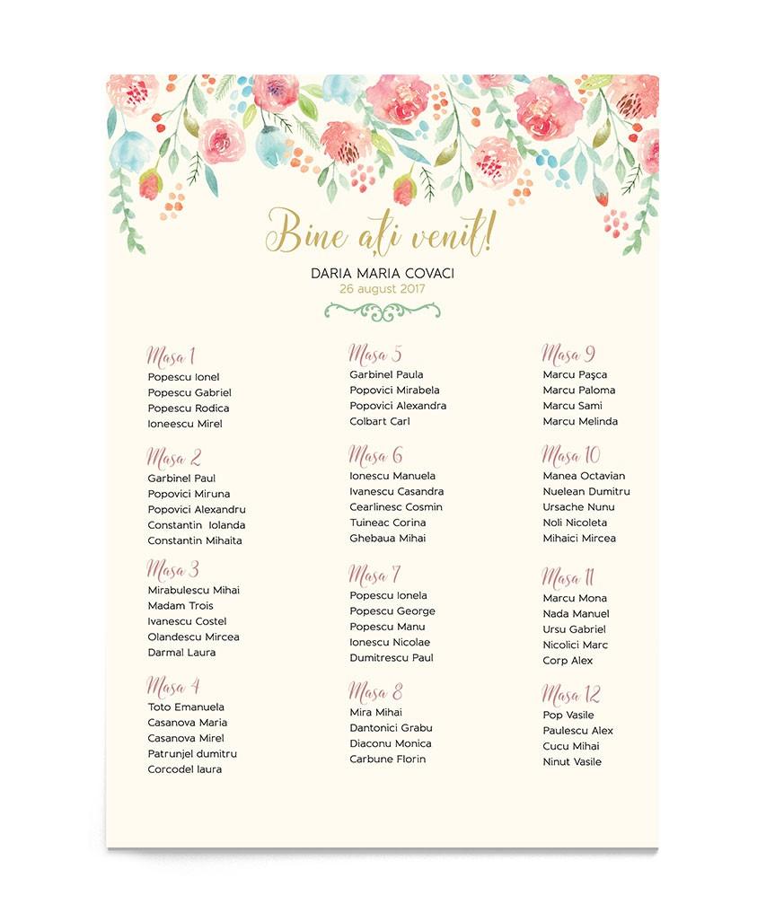 Panou de botez Sprinkle Flowers