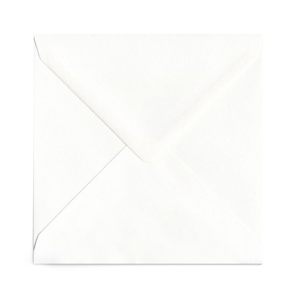Plic patrat alb texturat 155X155 mm
