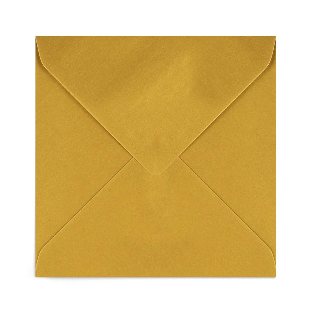 Plic patrat auriu antichizat 155X155 mm