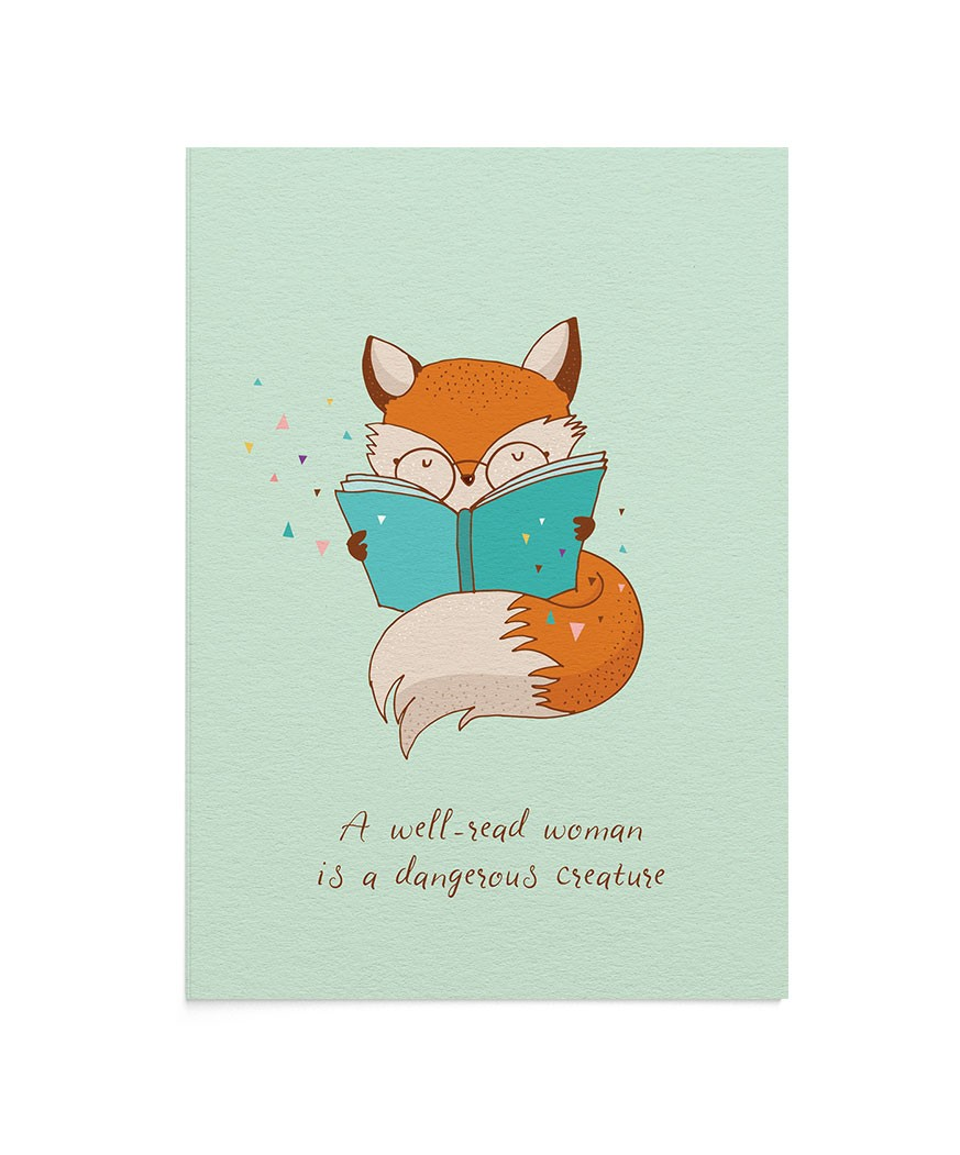 Felicitare Reading Fox