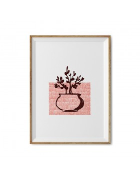Art Print Bonsai Stamp