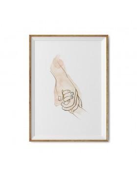 Poster Art Print Caring Hands