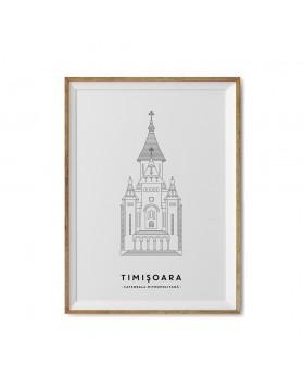 Art Print Catedrala Mitropolitana Timisoara