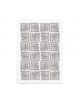 Art Print Charcoal Weave