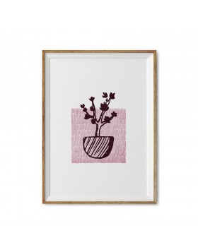 Art Print Cherry Tree Stamp