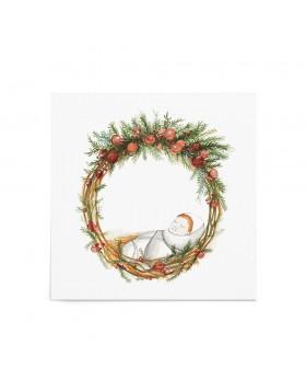 Poster Art Print Christmas Baby Wreath