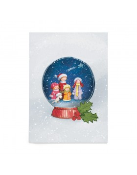 Poster Art Print Christmas Carols Globe