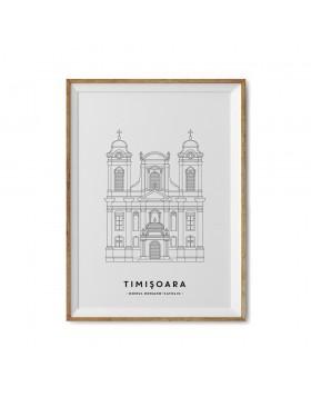 Art Print Domul Romano-Catolic Timisoara