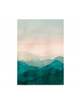 Poster Art Print Emerald Hills
