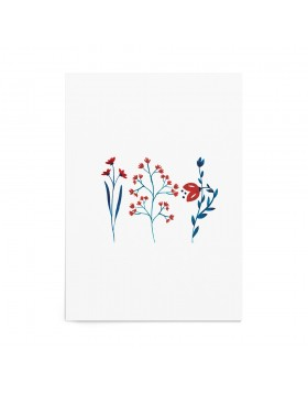 Art Print Folk Blossoms