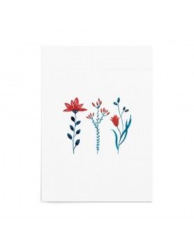 Art Print Folk Flora