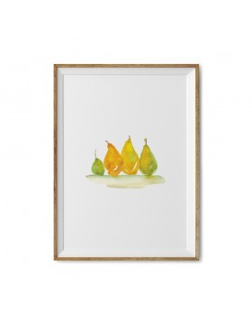 Art Print Golden Pears