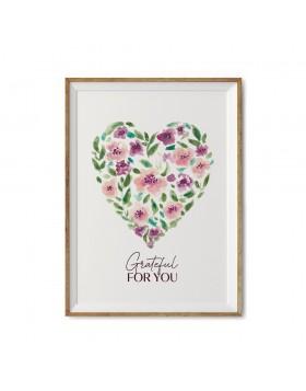Poster Valentine's Grateful Heart